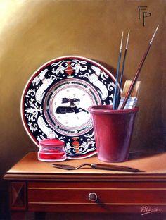 Gli oggetti della pittura 2011 Olio su tela 40 x 30 © copyright Felice Pedretti, all rights reserved