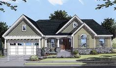 Delightful Home Plan - 3927ST | Cottage, Ranch, Traditional, 1st Floor Master Suite, PDF, Sloping Lot | Architectural Designs