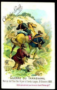 "Chocolate Louit ""The Transvaal War"" Boer War) Death of Boer General Ben Viljoen at Elands-Laagte October 1899 (in reality Viljoen survived the war to publish his memoirs! 21st October, Folk Music, Toy Soldiers, Warfare, Memoirs, Archaeology, Survival, History, British"