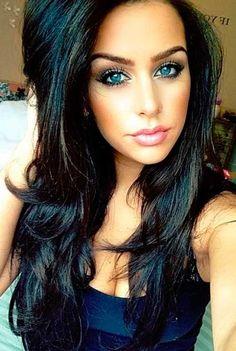 Os mais lindos cabelos pretos que você já viu e como deixar o seu igual! #preto…