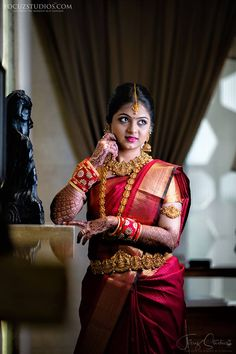 South Indian Bridal Photography Ideas - Best Poses of South Indian Bride - Ananth A - South Indian Bridal Photography Ideas - Best Poses of South Indian Bride South Indian Bridal Photography Ideas - Best Poses of South Indian Bride - Indian Wedding Couple Photography, Bridal Photography, Photography Ideas, Photography Couples, Indian Photography, Indian Bridal Photos, Indian Bridal Sarees, Bengali Bridal Makeup, Beauty Full Girl