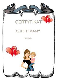 Dzień Matki: Dyplomy i certyfikaty Dzień Matki Maj Święta i pory roku