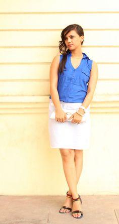 Shades of Blue - Neon Blue Top and Cotton Skirt. See post.. http://www.bloglovin.com/frame?post=1104786465=0_type=a=6963199=aHR0cDovL2Zhc2hpb25ieXJ1ZGEuYmxvZ3Nwb3QuY29tLzIwMTMvMDYvc2hhZGVzLW9mLWJsdWUtbmVvbi1ibHVlLXRvcC1hbmQtY290dG9uLmh0bWw=1=0=0