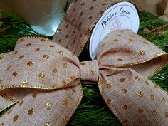 Gold Glitter Spot Burlap Wire Edged Wired Ribbon x Christmas Birthday Parties Tree Trimming Decorations Cake Vintage by RibbonQueenUK on Etsy Rose Gold Ribbon, Glitter Ribbon, Gold Glitter, Christmas Birthday Party, Birthday Parties, Christmas Wired Ribbon, Burlap Ribbon, Metallic Thread, How To Make Bows