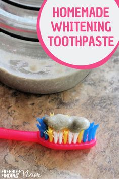 Would you like to naturally whiten your teeth at home? With this easy 2-step DIY Teeth Whitening Baking Soda Toothpaste recipe you mix coconut oil, baking soda, bentonite clay and peppermint essential to create a powerful homemade whitening cream. This teeth white DIY will leave your teeth feeling clean and polished plus freshen your breath. #teethwhiteningathome #teethwhitediy #teethwhiteproducts #teethwhiteningathomebakingsoda