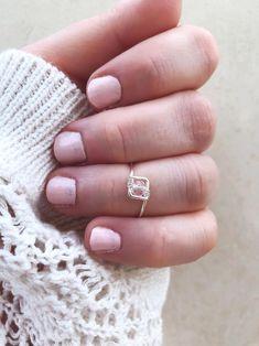 Nouveau Argent Sterling 925-Pinky-MIDI OU ENFANT Ring-Clear Crystals-Sz 2
