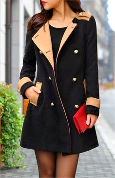 Black Long Coat Perfect Street Style