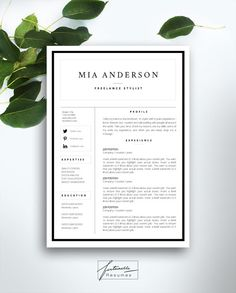 resume template 3 page cv template cover by fortunelleresumes - Best Resume Templates For Word