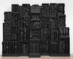 Louis Nevelson has incredible boxed collection sculptures