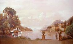 RA0207M Lake Como Wall Mural