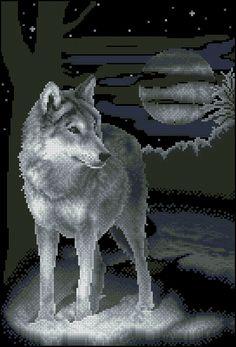 """Сачать схему вышивки """"Белый волк"""""""