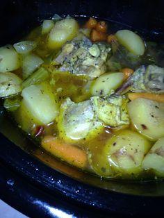 Chicken, veggie and potato stew. Crock pot luvah!