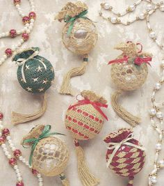 Crochet Christmas Ornament Crochet Patterns. These are beautiful, may have to see if my momma can make these.