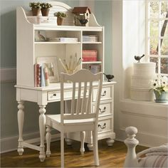 Lea Elite Retreat Desk with Hutch in Antique White - 149-345-149-545-Kit - Lowest price online on all Lea Elite Retreat Desk with Hutch in Antique White - 149-345-149-545-Kit