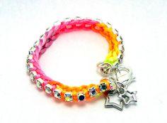 Tropical Tennis Bracelet  Designer Friendship by GetShackled, $20.00