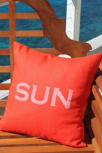 beach decor sun pillow