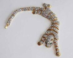 Tiger maria felix jewelry - uploaded by www.1stand2ndtimearound.etsy.com