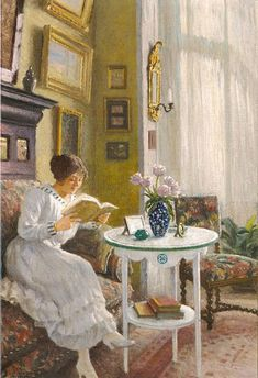 Afternoon Read (date unknown) by Paul-Gustave Fischer (1860-1934) | The Athenaeum -
