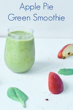 Apple Pie Green Smoothie Recipe #GreenSmoothie Healthy Vegetable Recipes, Healthy Eating Recipes, Vegan Breakfast Recipes, Vegetarian Recipes, Healthy Eats, Yummy Smoothie Recipes, Fruit Recipes, Plant Based Recipes, Drink Recipes