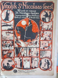 Dutch Christmas music book Vroolyk St. Nicholaas Feest