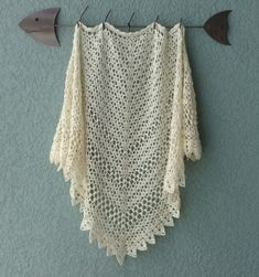 """Seems Like Old Times shawl, free pattern from Michelle DuNaier.  Two sizes available, 48"""" x 24"""" or 52"""" x 30"""".  Different yarn weights &/or hook sizes give different effects - see Project Gallery.  **The shawl pictured, crocheted by Nancy-P, is lacy & airy: 4-ply fingering weight yarn (merino/acrylic blend) with a 'G' hook, measures 66"""" x 36"""" after blocking.  . . . .   ღTrish W ~ http://www.pinterest.com/trishw/  . . . . #crochet"""