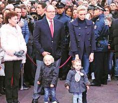 12/3/16*Princess Charlene, Princess Gabriella, Prince Albert, Prince Jacques