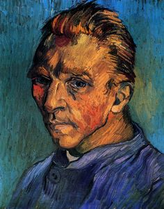 Self-Portrait - Vincent van Gogh - Painted in Sept 1889 while in the Saint-Rémy Asylum - Current location: 	Private collection ................#GT