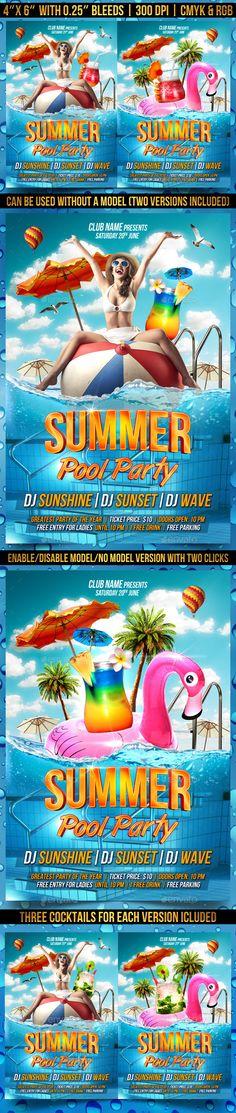 Summer Beach Party Flyer Template Vol  Summer Beach Party
