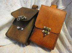 Leather journeyman belt bags made to order by ScreamingNorth, $55.00