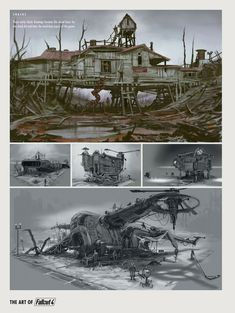 The Art of Fallout 4 Fallout Art, Fallout Concept Art, Fallout New Vegas, Fallout 4 Settlement Ideas, Post Apocalyptic Art, Fall Out 4, Conceptual Design, Post Apocalypse, Sci Fi Fantasy