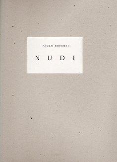 "ROVERSI Paolo (né en 1947) 1 ouvrage - ""Nudi"" - Stromboli -"