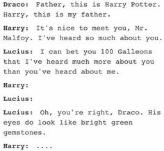 I mean, Harry, you lost 100 galleons Harry Potter Comics, Harry Potter Puns, Harry Potter Feels, Harry Potter Draco Malfoy, Harry Potter Universal, Harry Potter World, Harry Potter Hogwarts, Harry Potter Ships, Drarry