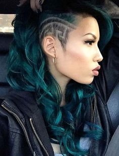 45 Undercut Hairstyles with Hair Tattoos for Women With Short or Long Hair – Beauty ideas Shaved Side Hairstyles, Undercut Hairstyles, Top Hairstyles, Wedding Hairstyles, Shaved Side Haircut, Undercut Pixie, Homecoming Hairstyles, Fade Haircut, Medium Hairstyles