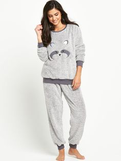 Sorbet Raccoon Fleece Twosie | littlewoods.com