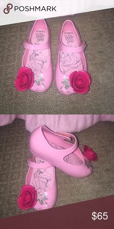 Mini Melissa size 7 Limited addition beauty and the beast mini Melissa's worn 3 maybe 4 times . Look like new Shoes