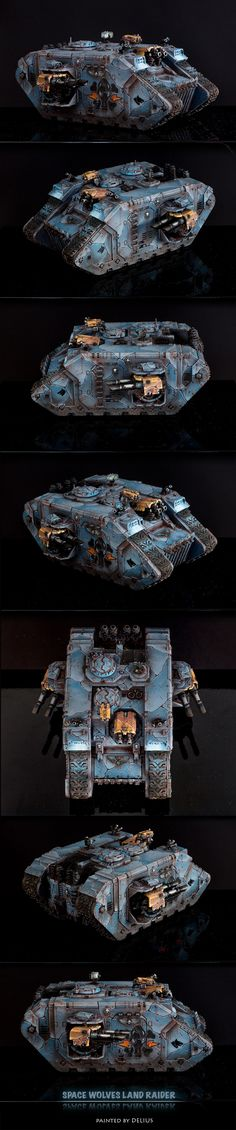 CoolMiniOrNot - Space Wolves Land Raider by Delius
