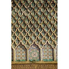 Meknes Morocco Tilework on the Bab Mansour Gate Canvas Art - Charles O Cecil DanitaDelimont (12 x 17)