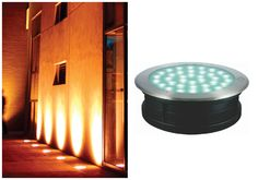 LED INGROUND LIGHT STAINY SERIES - Well versed light that throws light intensively to walls or outdoor spaces. Designed for recess mounting in concrete, brick, stone or dirt it is suitable for drive-over applications. #ingroundlight #outdoorlights #landscapelights  Stunning isn't it?