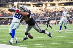 New England Patriots defensive end Rob Ninkovich (50) breaks up a pass intended for Dallas Cowboys running back Darren McFadden (20) during the second half of an NFL football game at AT&T Stadium on Sunday, Oct. 11, 2015, in Arlington. (Smiley N. Pool/The Dallas Morning News) Share This Photo On...