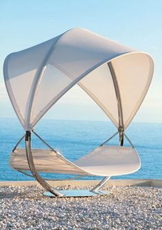 Get ready to relax with the Surf hammock by Royal Botania at Hildreth's Outdoor Seating, Outdoor Spaces, Outdoor Gear, Outdoor Living, Outdoor Sofas, Outdoor Lounge, Lounge Design, Wicker Furniture, Garden Furniture