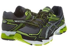 Asics Gt-1000 2 Mens T3RON-7591 Limeade Grey Running Shoes Sneakers Size 10.5