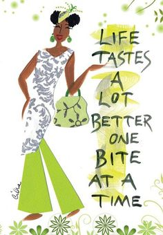Life Tastes A Lot Better One Bite At A Time Magnet by Cidne Wallace