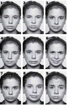 slight facial expression changes.  Teach this for a more advanced lesson in understanding body language.