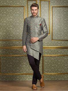 Festive Function Blue Indo Western, mens fashion, fashion for men, mens ethnic wear, ethnic collection, mens wedding wear, mens party wear, designer, indian ethnic, indian fashion, indo western