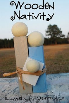 Simple wooden nativity by josephine.l
