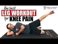 Best Leg Workout With Knee Pain 8 of the best leg exercises you can do with knee pain. A great lower body workout you can do at home even with bad knees. Minimal impact and very effective! Best Leg Workout, Leg Workout At Home, Leg Workouts, Fat Workout, Boxing Workout, Knee Strengthening Exercises, Thigh Exercises, Stretching Exercises, How To Strengthen Knees