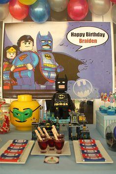 Braiden's Lego SuperHero Party   CatchMyParty.com