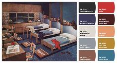 Paint colors for a vintage kids' room