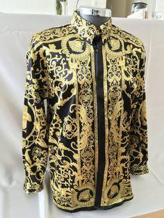 Hermes geïnspireerd zijden hemd voor mannen door SilkBarrocoCouture