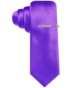 Alfani Red Solid Skinny Tie